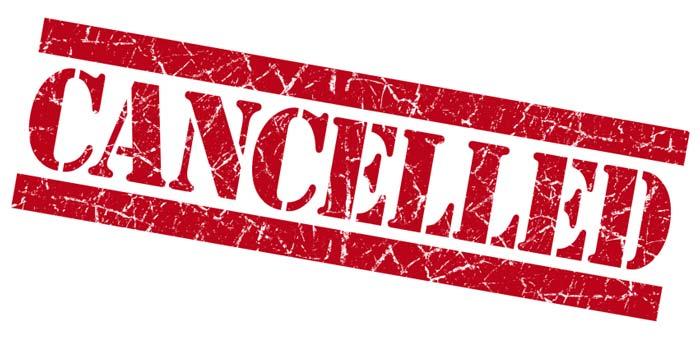 massage cancellation